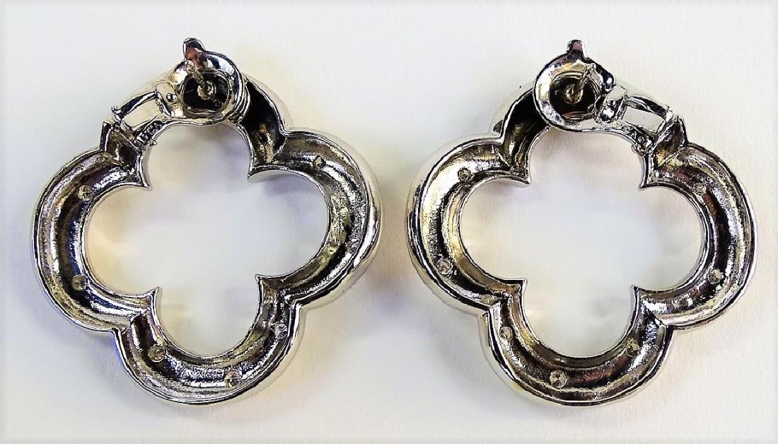 VAN CLEEF & ARPELS 18K & DIAMOND ALHAMBRA EARRINGS - 4