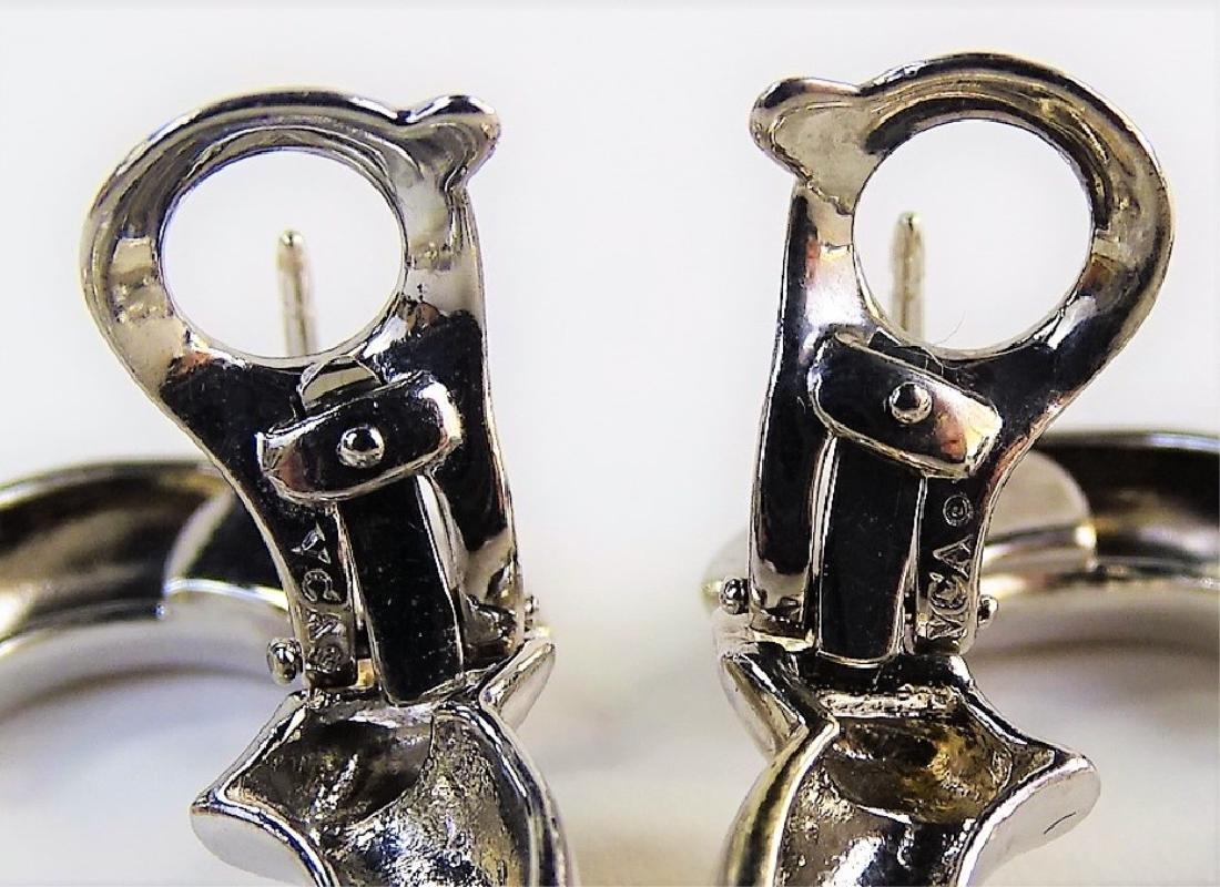 VAN CLEEF & ARPELS 18K & DIAMOND ALHAMBRA EARRINGS - 5