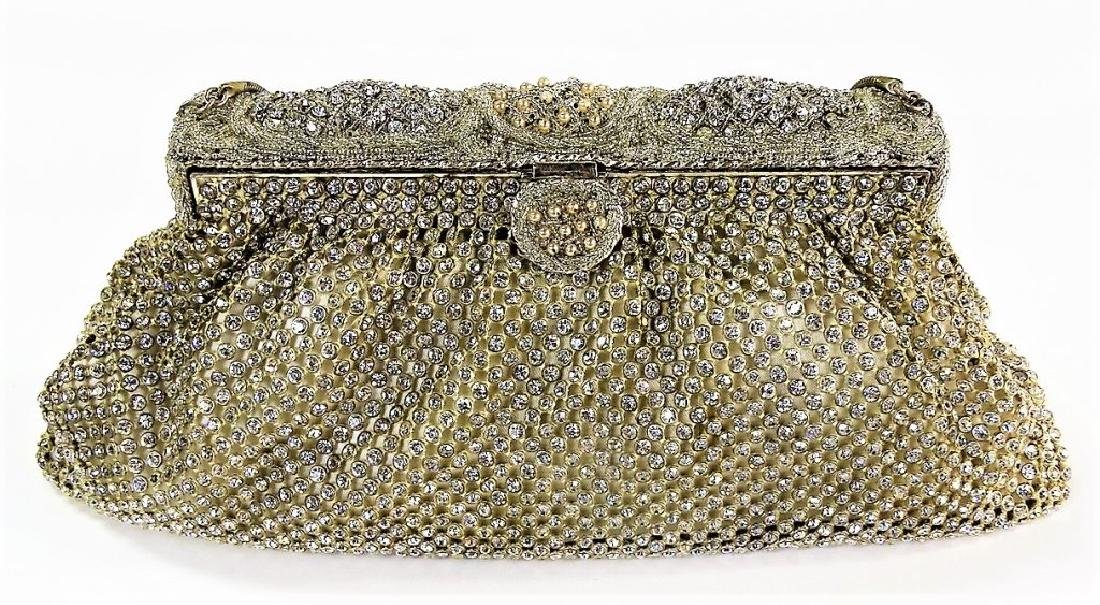 SAKS FIFTH AVENUE VTG BEADED EVENING BAG - 2