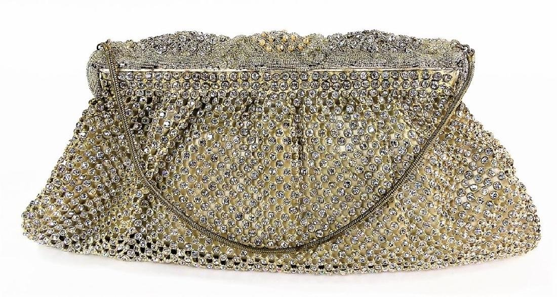 SAKS FIFTH AVENUE VTG BEADED EVENING BAG - 3