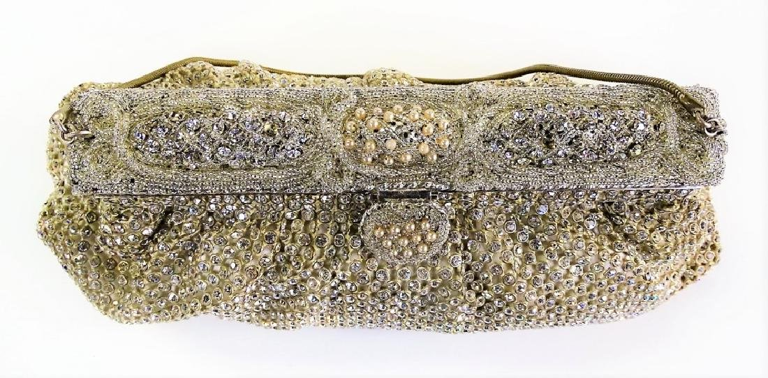 SAKS FIFTH AVENUE VTG BEADED EVENING BAG - 4