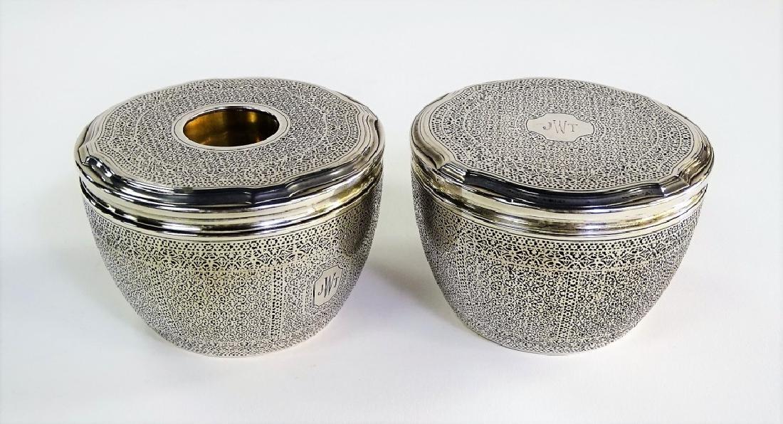 PR TIFFANY & CO. STERLING SILVER DRESSER JARS
