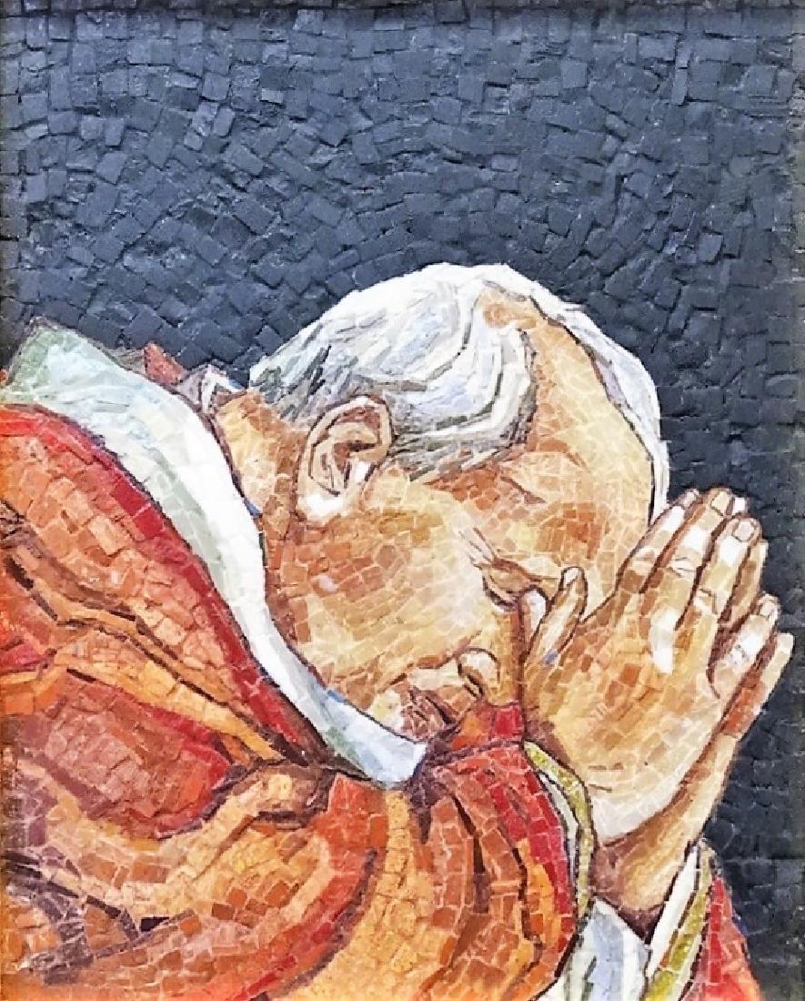 ITALIAN RELIGIOUS MOSAIC OF POPE JOHN PAUL II - 2