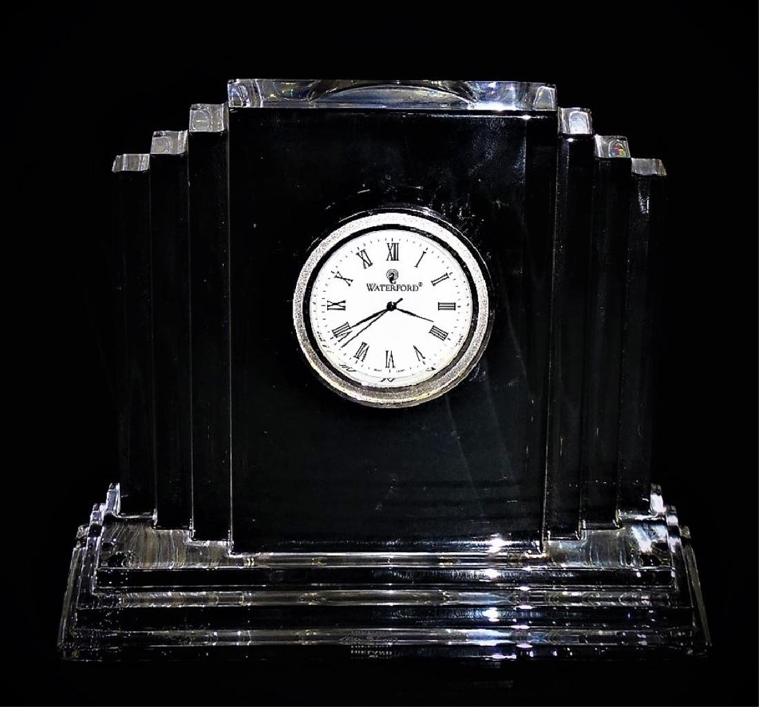 WATERFORD FINE CRYSTAL SHELF CLOCK