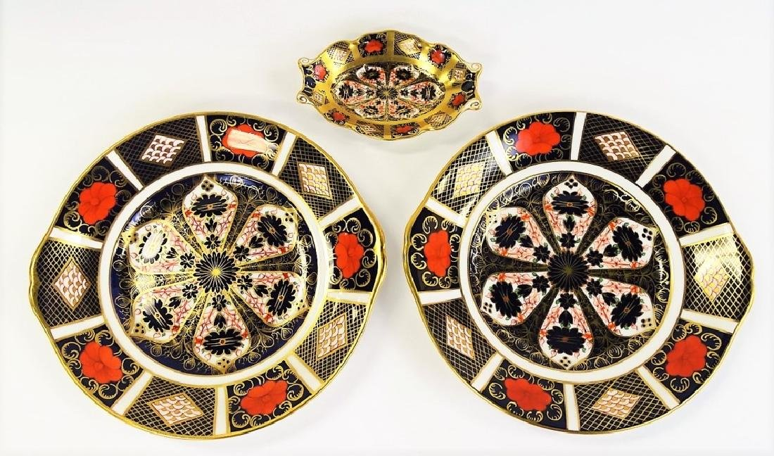 3 ROYAL CROWN DERBY H/P PORCELAIN DISHES