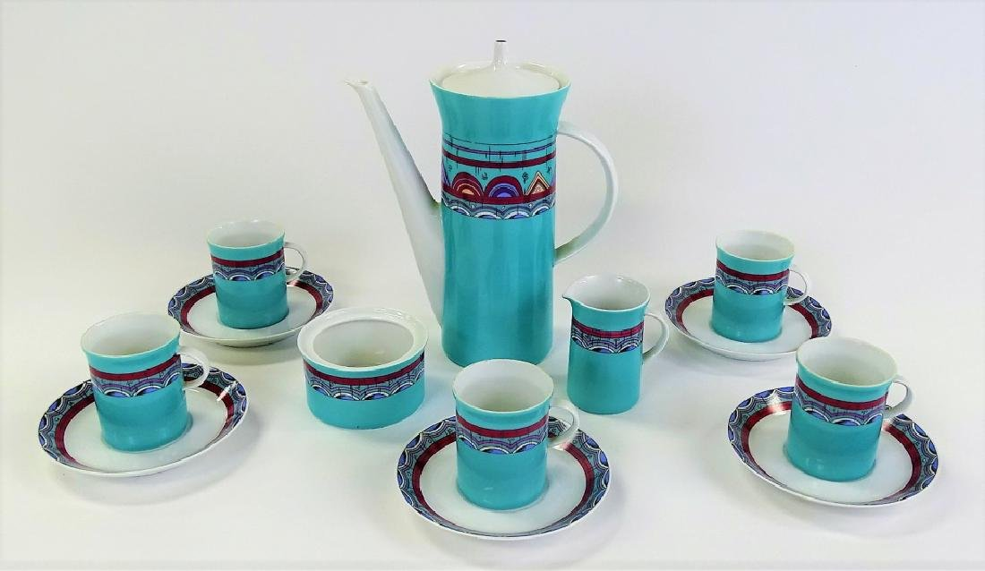13PC ROSENTHAL PORCELAIN DEMITASSE SET