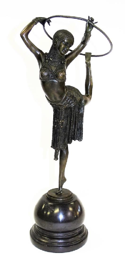 20TH C. PATINATED BRONZE SCULPTURE AFTER CHIPARUS