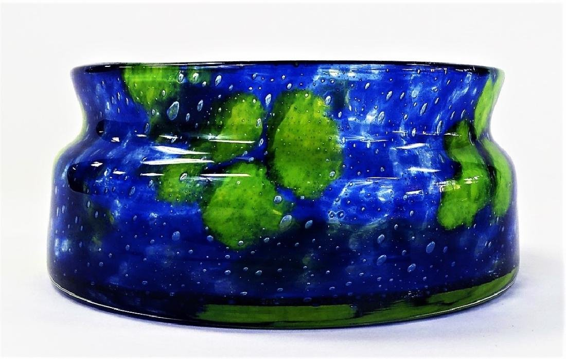 CONTEMPORARY ART GLASS CONTROLLED BUBBLE BOWL