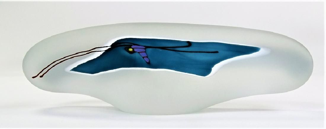 CONTEMPORARY SIGNED ART GLASS PAPERWEIGHT