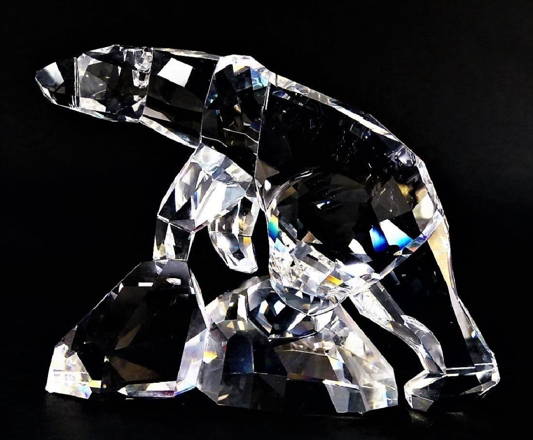 SWAROVSKI CRYSTAL POLAR BEAR FIGURINE