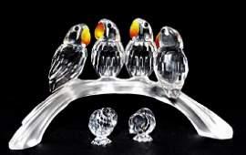 3PC LOT OF SWAROVSKI CRYSTAL BIRD FIGURINES