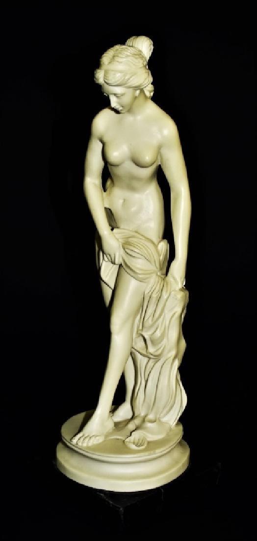 VTG A. SANTINI ITALIAN NUDE FEMALE SCULPTURE