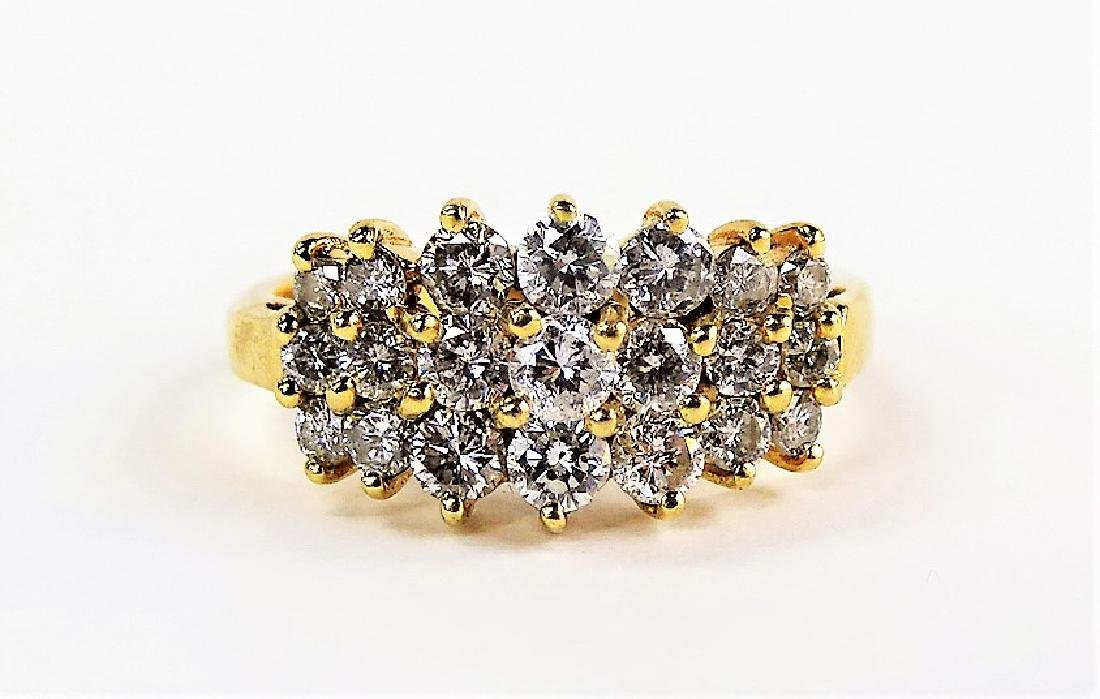 LADIES STUNNING 14KT YG 2.00CT DIAMOND RING