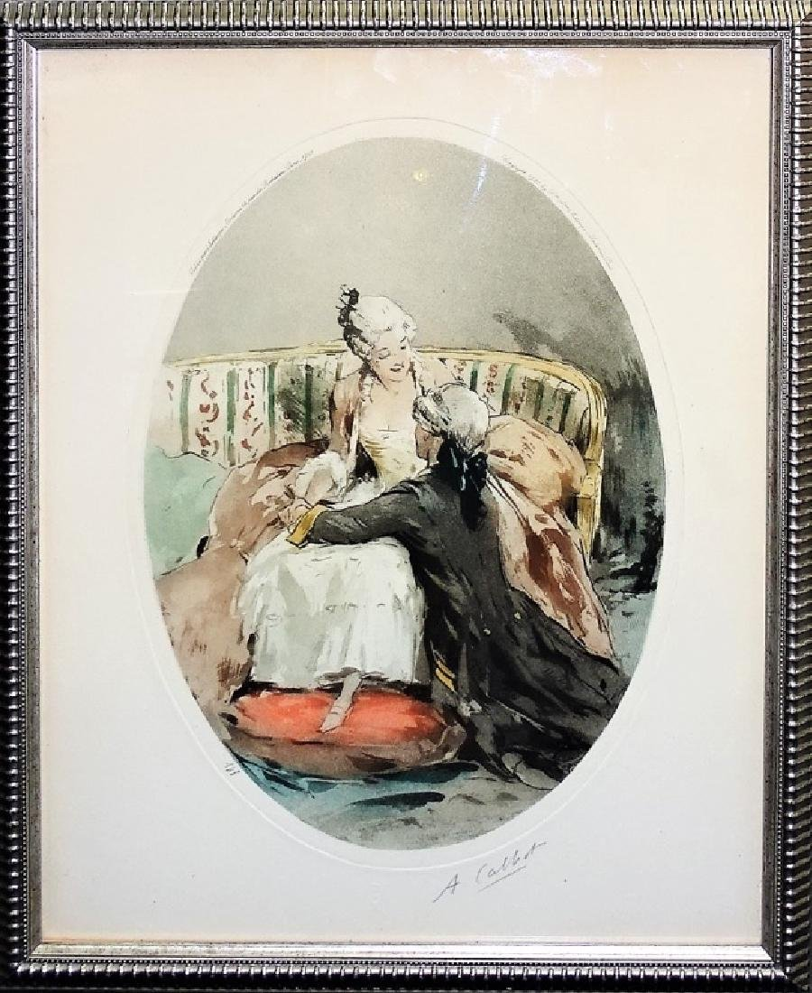 SIGNED ANTOINE CALBET COLOR LITHOGRAPH PRINT