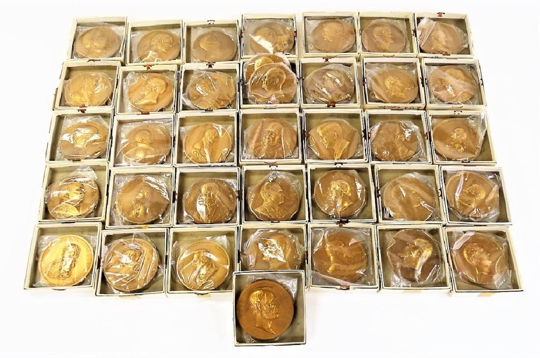 SET OF 37 BRONZE PRESIDENTIAL INAUGURATION MEDALS