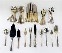 64PC SET ANTIQUE TOWLE STERLING SILVER FLATWARE