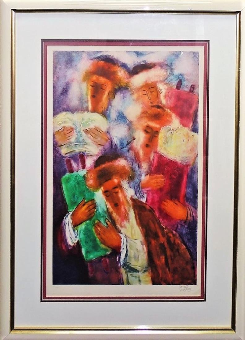 REUVEN RUBIN PENCIL SIGNED COLOR LITHOGRAPH