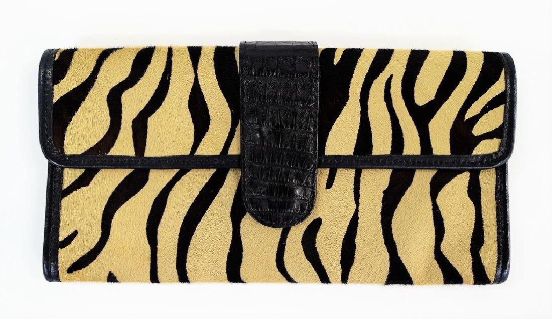 AUTHENTIC HANDMADE CARLOS FALCHI ZEBRA HANDBAG