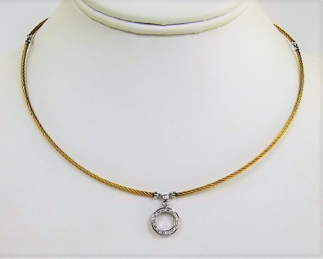 CHARRIOL 18KT Y GOLD & DIAMOND CHOKER NECKLACE - 2