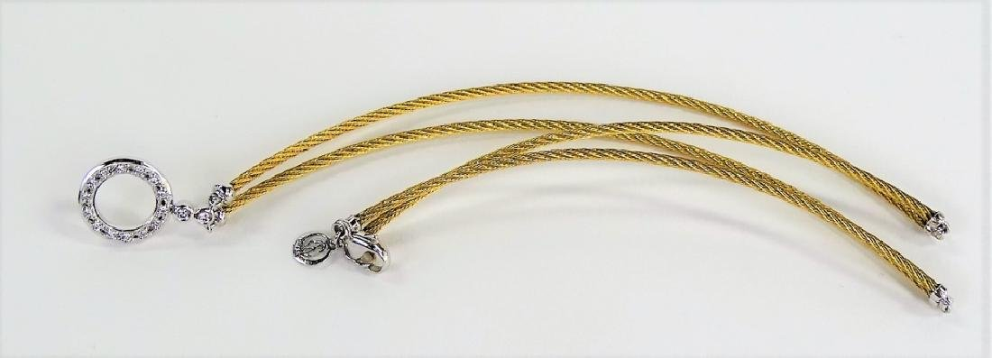 CHARRIOL 18KT Y GOLD & DIAMOND CHOKER NECKLACE - 6
