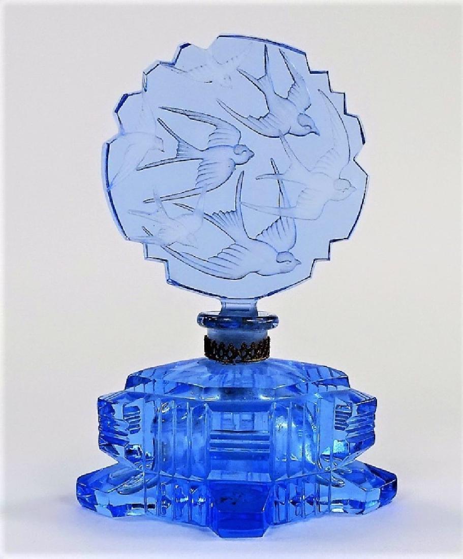 VINTAGE CZECH CUT GLASS PERFUME BOTTLES