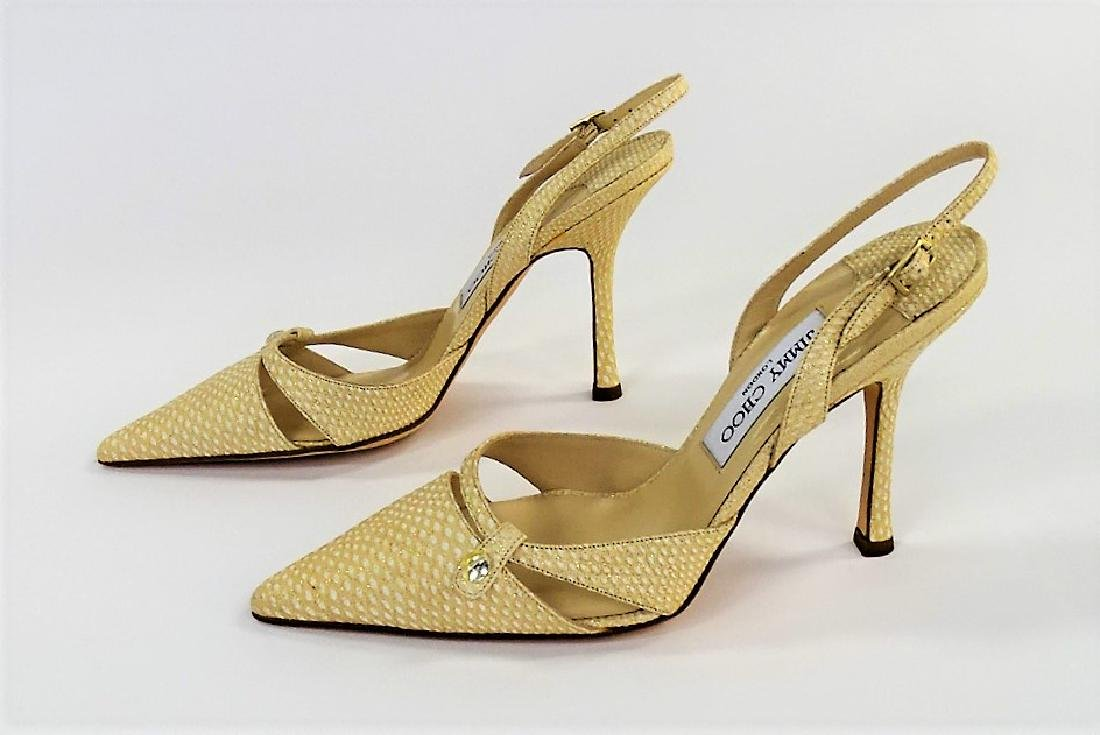 PR JIMMY CHOO LONDON KARUNG LEATHER HEELS - 3