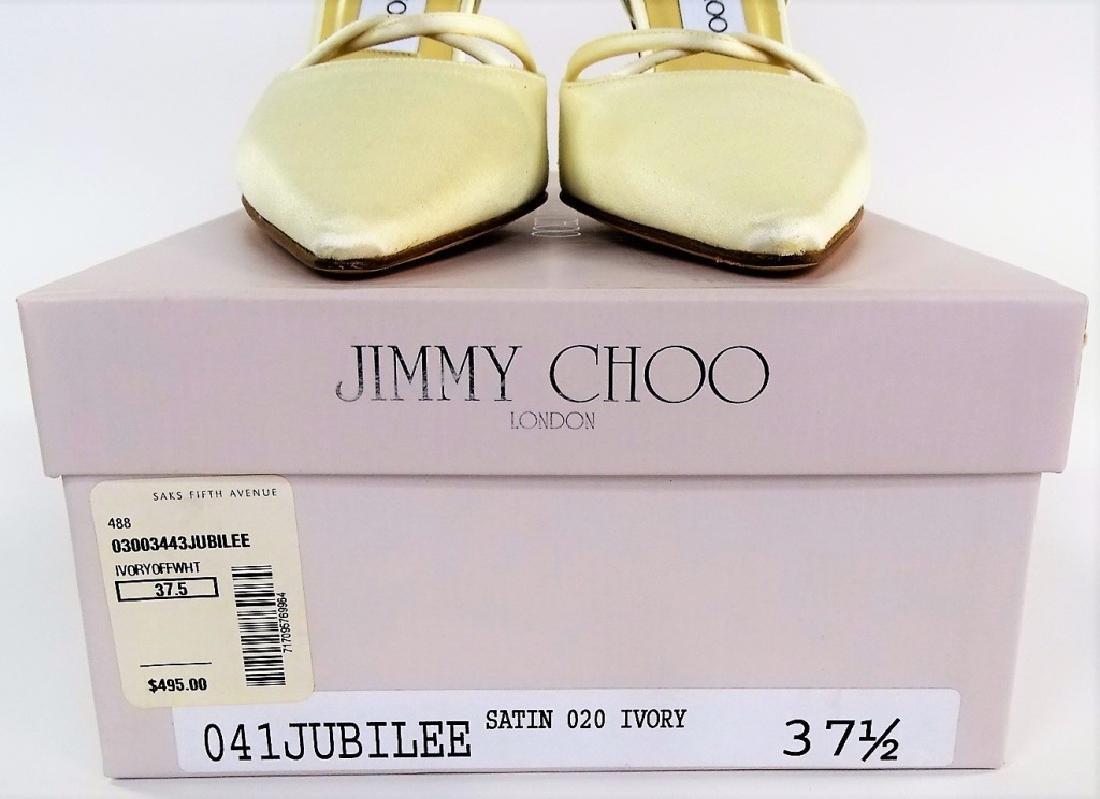 PR JIMMY CHOO LONDON SATIN JUBILEE HEELS - 8