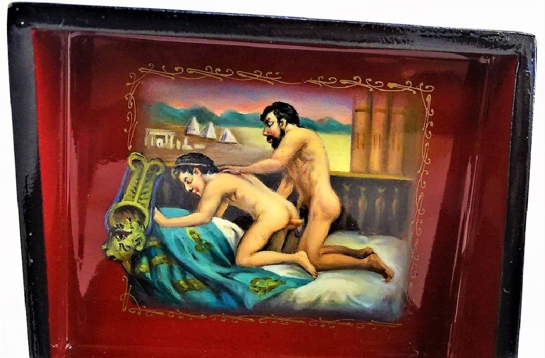 HAND PAINTED EROTIC RUSSIAN LACQUER BOX - 2