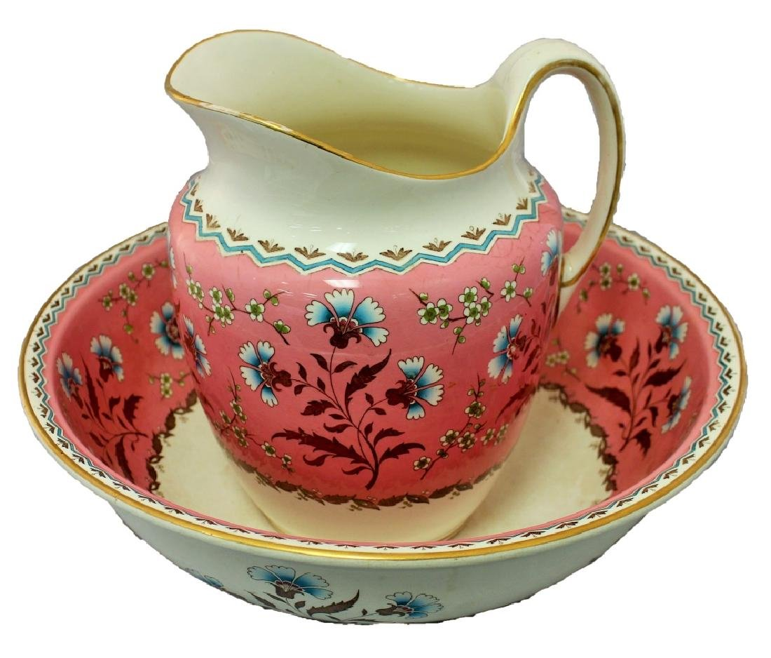 VICTORIAN MINTON PORCELAIN PITCHER SET