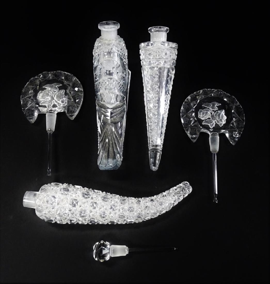 LOT OF THREE VICTORIAN CUT GLASS PERFUMERS - 3