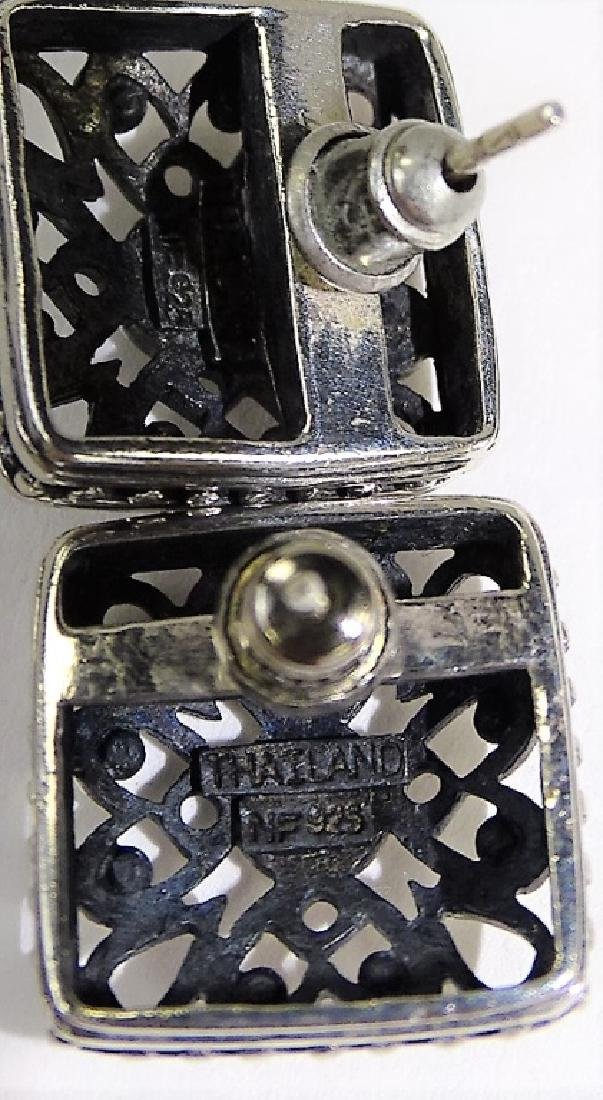 2PCS VINTAGE STERLING SILVER JEWELRY - 4