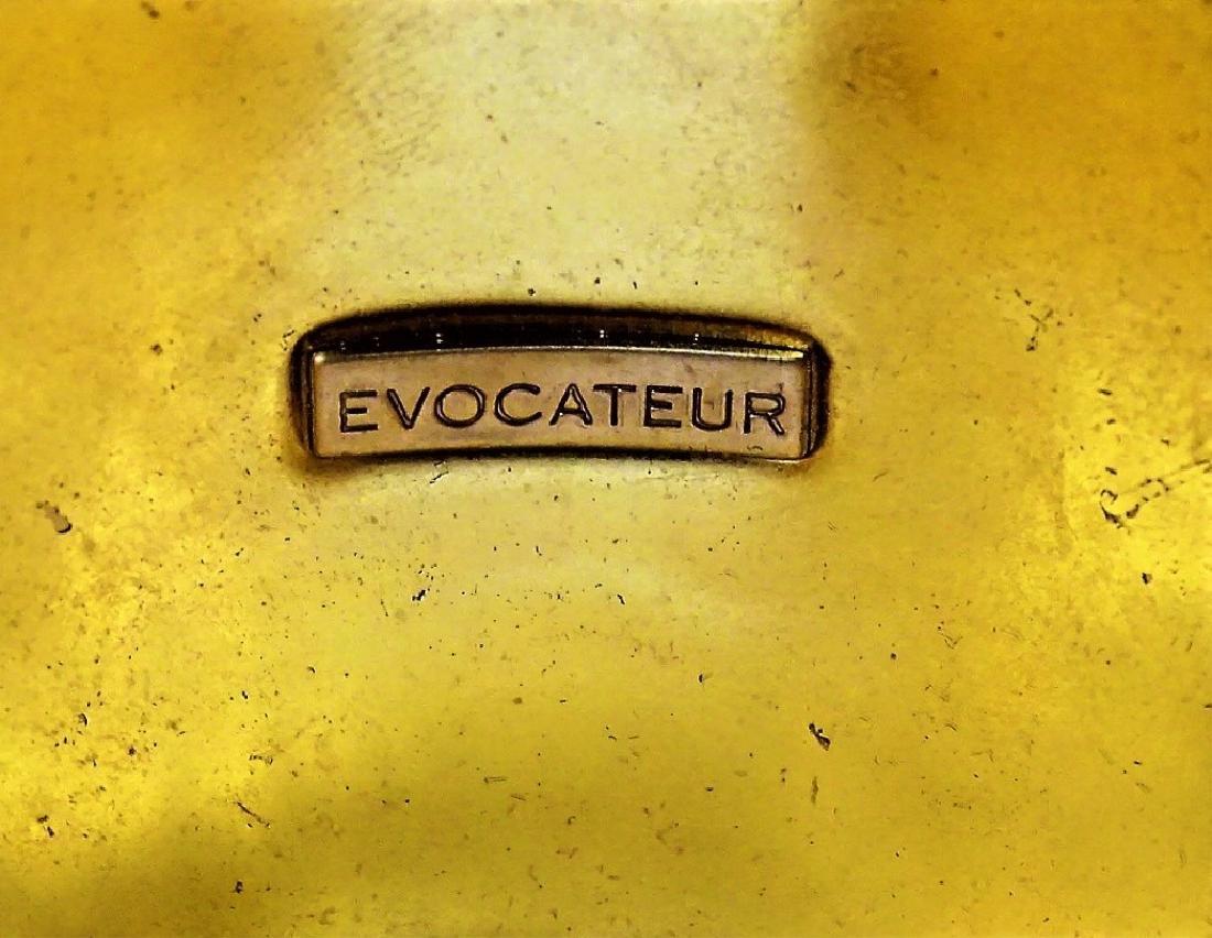 EVOCATEUR ENAMELED GOLDTONE ZEBRA CUFF BRACELET - 5