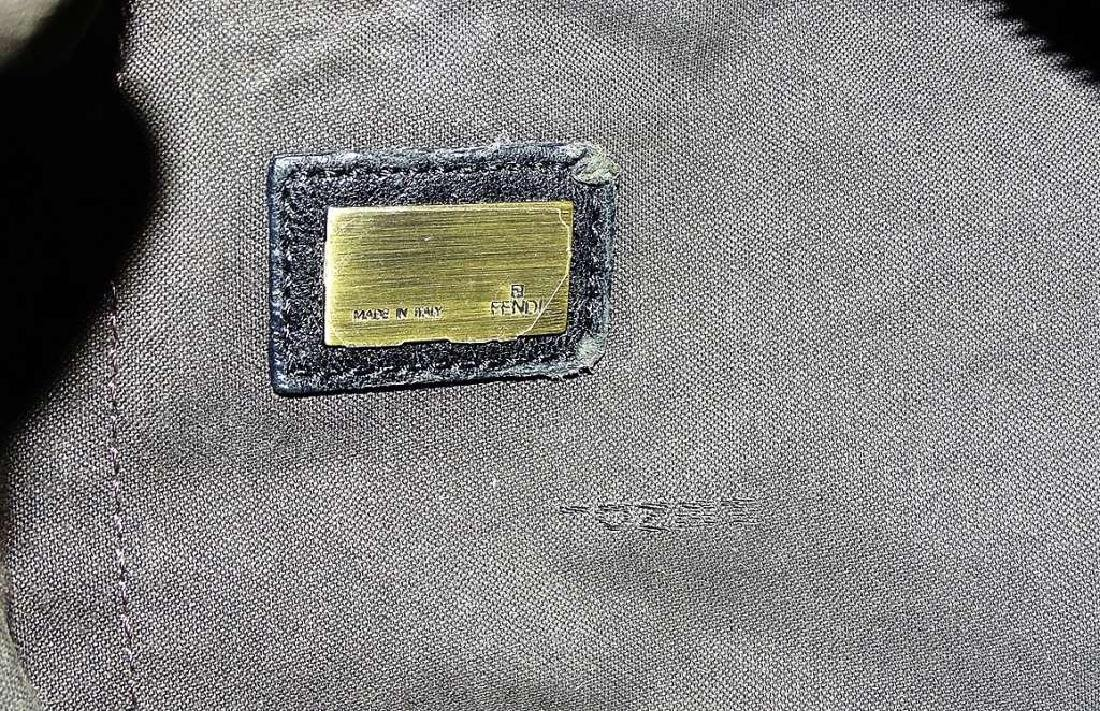 FENDI BLACK SOFT NAPPA LEATHER SHOULDER BAG - 5