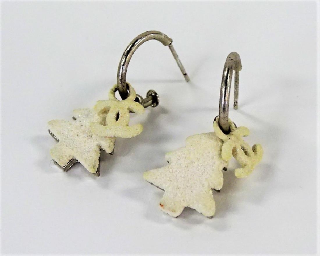 PR CHANEL FRANCE DESIGNER CHRISTMAS TREE EARRINGS