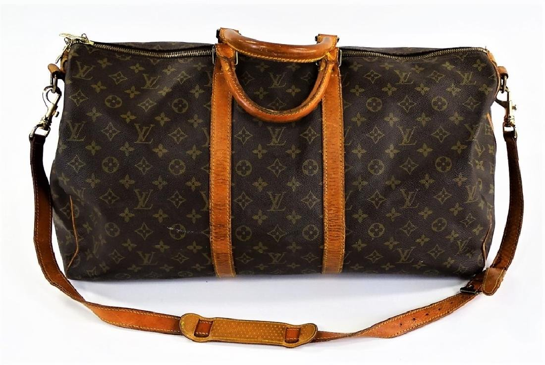 VINTAGE LOUIS VUITTON MONOGRAM CARRY-ON DUFFEL BAG - 2
