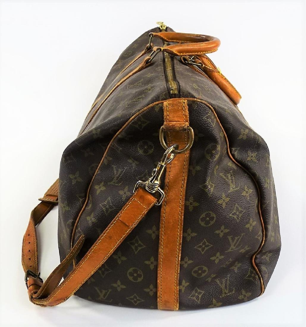 VINTAGE LOUIS VUITTON MONOGRAM CARRY-ON DUFFEL BAG - 3