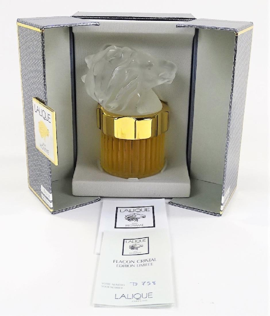 SEALED LALIQUE POUR HOMME CRYSTAL FLACON