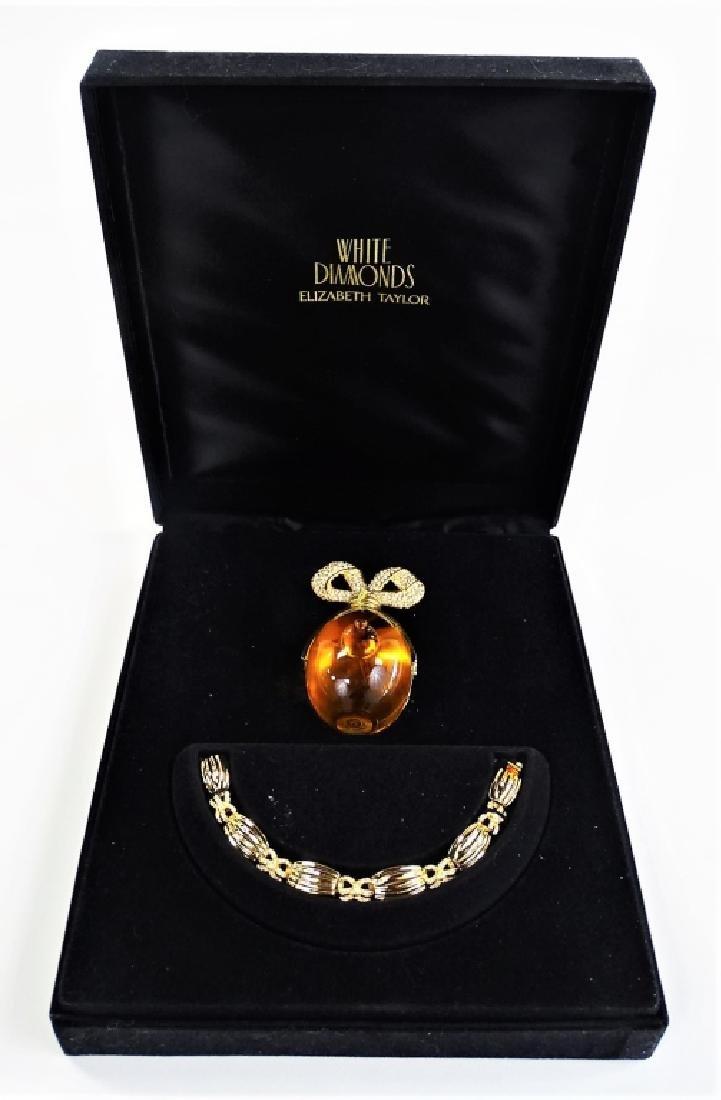 WHITE DIAMONDS 1 OZ UNOPENED PERFUME & BRACELET