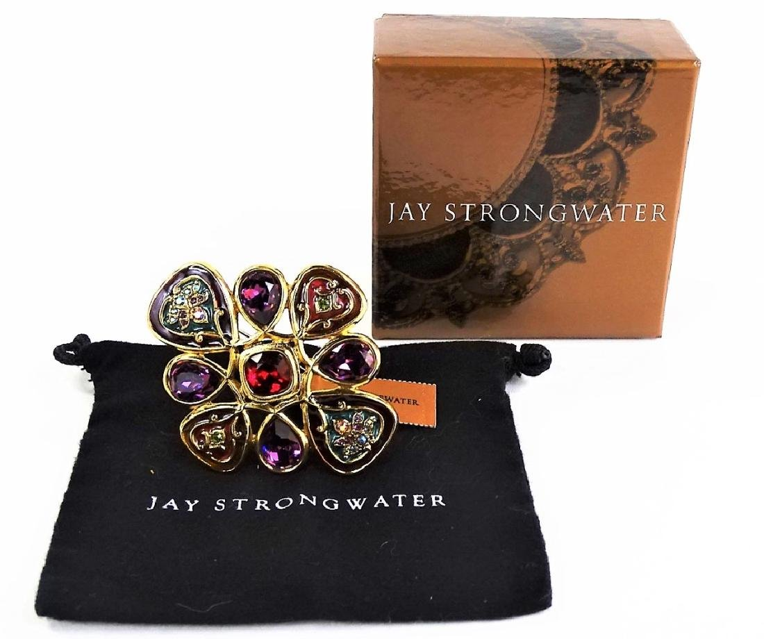 JAY STRONWATER ENAMELED BROOCH IN BOX