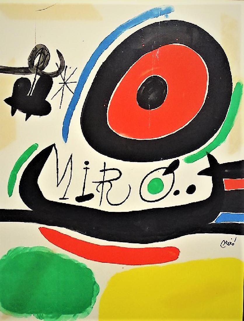 JOAN MIRO FRAMED ABSTRACT LITHOGRAPH ON PAPER - 2
