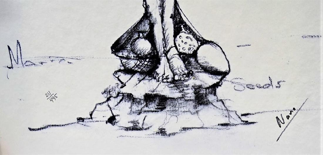 NANO LOPEZ 'MARIA & THE SEEDS' BRONZE SCULPTURE - 8