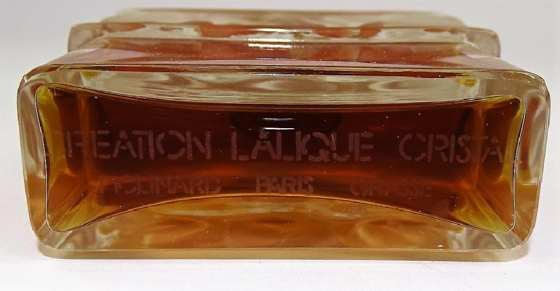 VTG LALIQUE FOR MOLINARD CRYSTAL PERFUME BOTTLE - 3