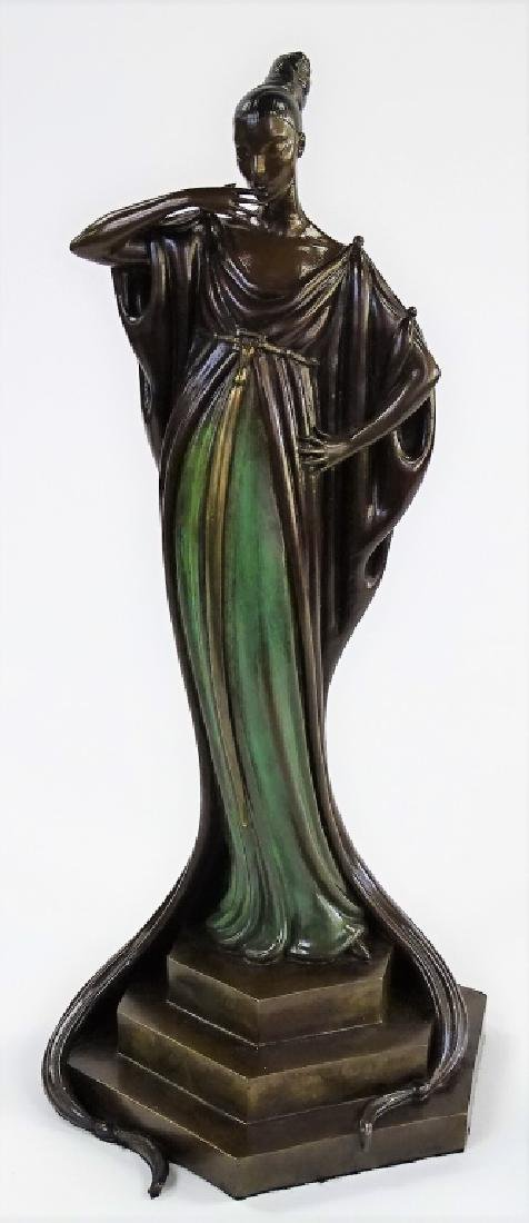 "ERTE BRONZE SCULTPURE ""AN EVENING IN 1922"" 145/250"