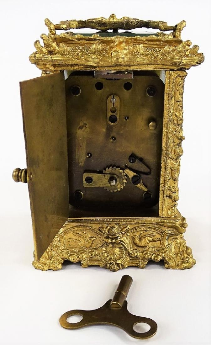 ANTIQUE FRENCH HEAVY BRONZE CARRIAGE CLOCK - 6