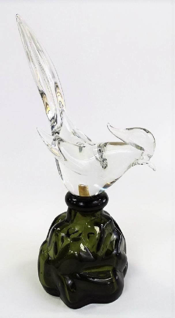 ARCHIMEDE SEGUSO FOR LUZARDO BLOWN GLASS DECANTER