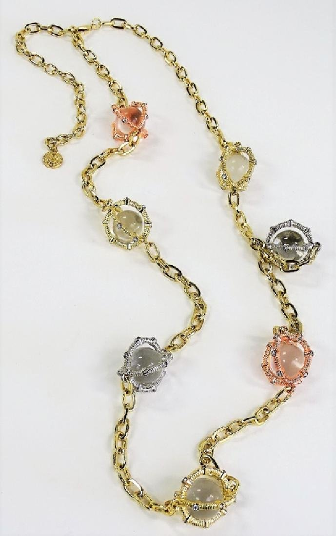 VTG RJ GRAZIANO POOLS OF LIGHT CAGED NECKLACE
