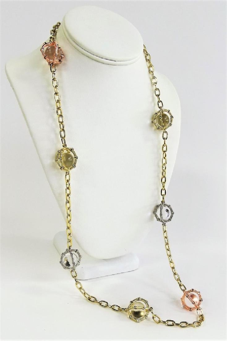 VTG RJ GRAZIANO POOLS OF LIGHT CAGED NECKLACE - 2