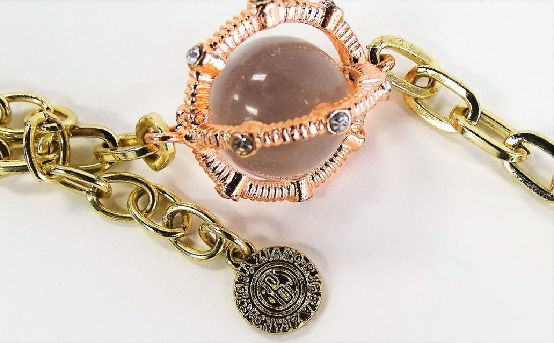 VTG RJ GRAZIANO POOLS OF LIGHT CAGED NECKLACE - 4