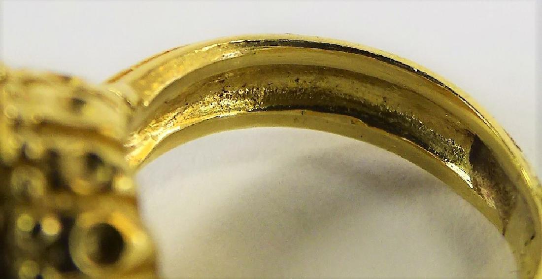 ESTATE 14K YELLOW GOLD MABE PEARL & DIAMOND RING - 4