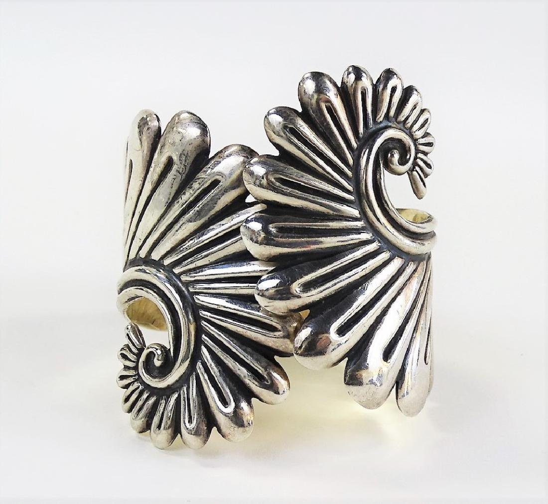 ESPERANZA MEXICAN STERLING HINGED CUFF BRACELET